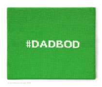 """#DADBOD"" by @Ben_Cuevas, 2015 Knit wool on canvas 16″ x 20″ From the #Tweetables series."